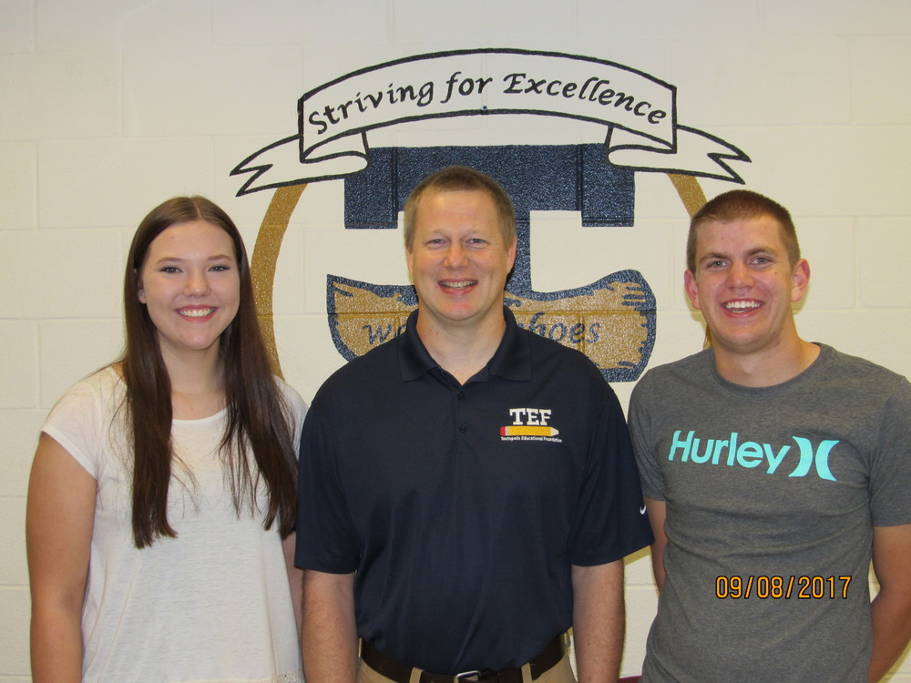 Hoene, Deters are September THS Students of the Month