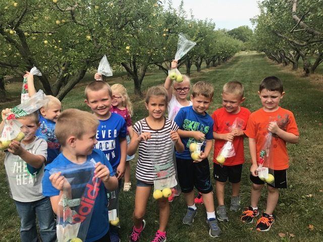 Kindergarten Visits the Apple Orchard