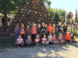First Graders are at the Pumpkin Patch!
