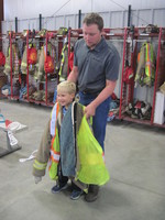 The Teutopolis Kindergarten classes visit the Teutopolis Fire Station!