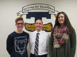 December Students of the Month are Blievernicht and Jansen