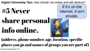 Digital Citizenship Rule #5