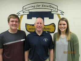 THS February Students of the Month are Ruholl and Beckman