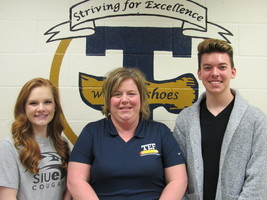 THS March Students of the Month are Cotton and Deters