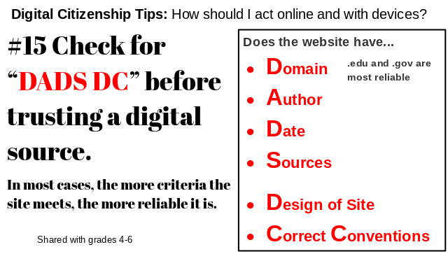 Digital Citizenship Tip
