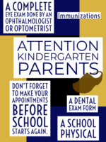 Kindergarten Health Requirements