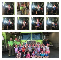 Mrs. Kreke's Kindergarten class visits the Teutopolis Fire Station!