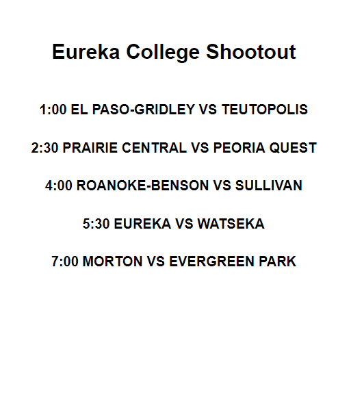 Shootout Schedule