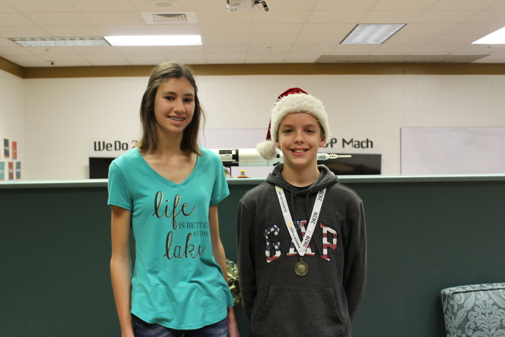 TJHS 2nd place Melissa Brummer, 1st place Martin Habing