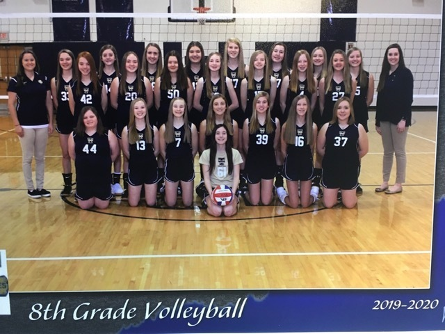 8th Grade Girls Volleyball Team