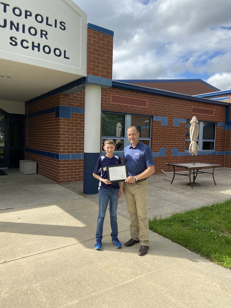 Ethan Michael Thoele (Art Award) with Mr. Drees